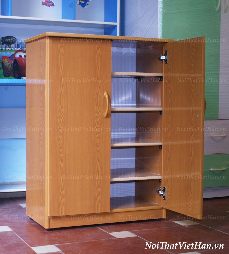 tủ giày nhựa giả gỗ Tủ giầy nhựa Đài Loan TG01   2 cánh màu vân gỗ tủ giày nhựa giả gỗ