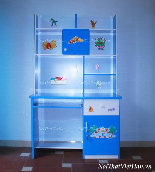 Bàn học nhựa Đài Loan bàn học BH3 màu xanh nước biển