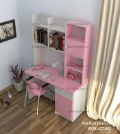 Bàn học nhựa Đài Loan bàn học BH6 màu hồng trắng