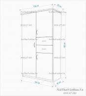 Tủ nhựa Đài Loan 3 cánh 2 ngăn C203 màu trắng
