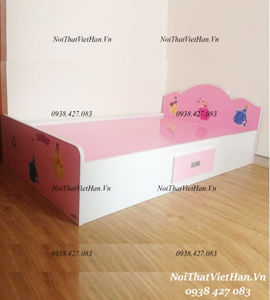 Giường trẻ em màu hồng G24
