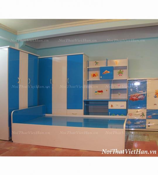 Giường nhựa Đài Loan G1 màu xanh