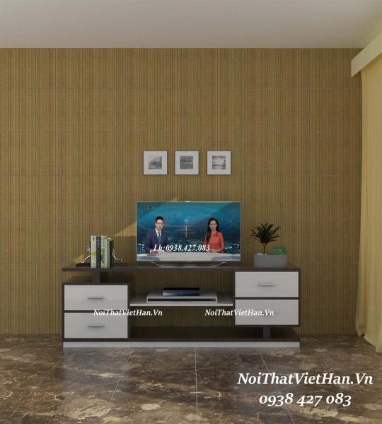 Kệ Tivi nhựa Đài Loan TV09 màu vân gỗ tối