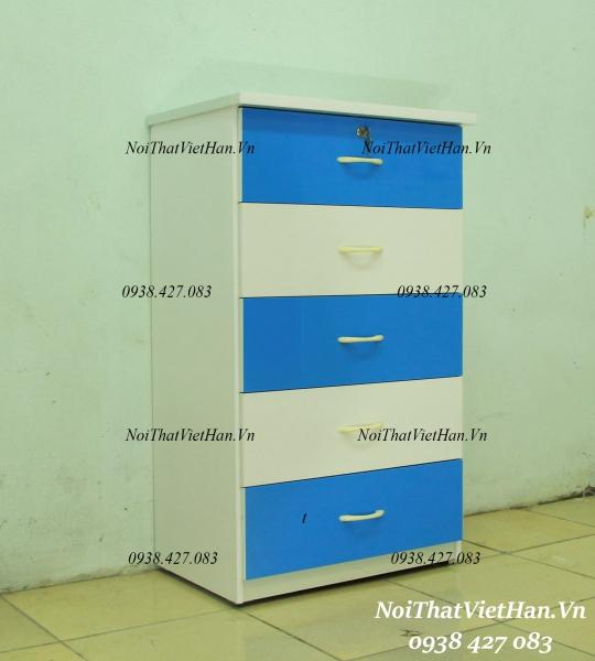 Tủ nhựa Đài Loan 5 tầng T12 màu xanh