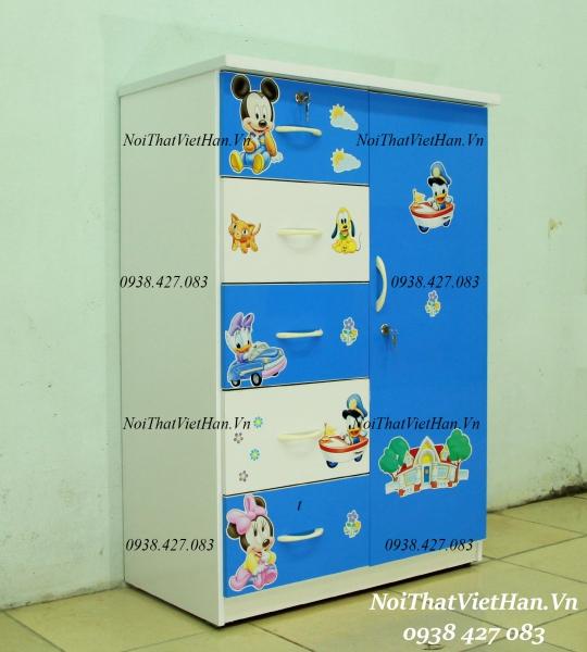 Tủ nhựa Đài Loan 1 cánh 5 ngăn, mã T225
