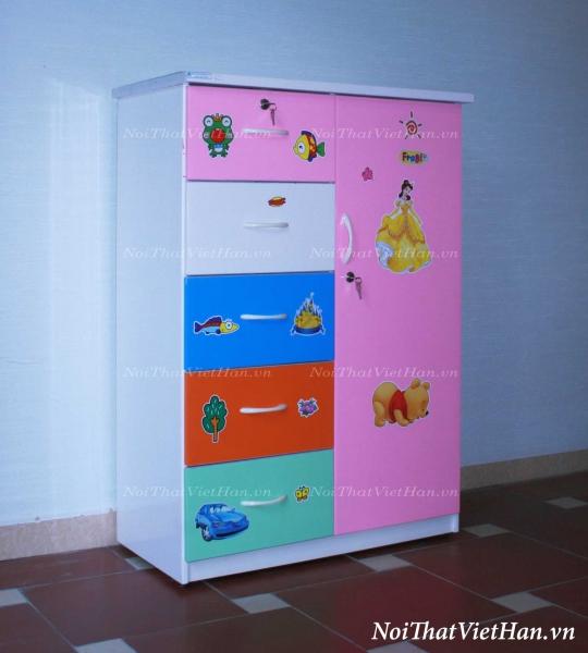 Tủ nhựa Đài Loan 1 cánh 5 ngăn T203 nhiều màu