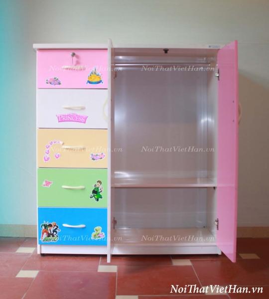 Tủ nhựa Đài Loan 2 cánh 5 ngăn T303 nhiều màu
