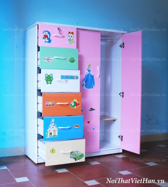 Tủ nhựa Đài Loan 2 cánh 6 ngăn T311 nhiều màu
