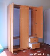 Tủ nhựa Đài Loan 3 cánh 2 ngăn C315 màu vân gỗ