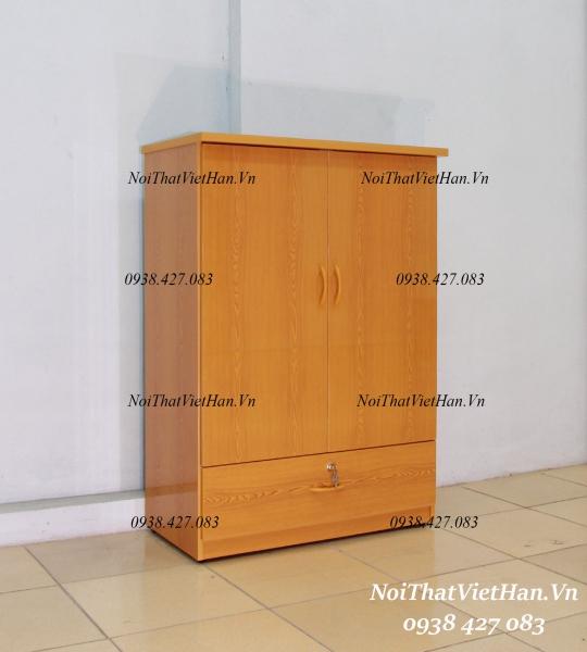 Tủ nhựa Đài Loan Trẻ Em 2 cánh 1 ngăn T211 màu vân gỗ