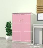 Tủ nhựa Đài Loan Trẻ Em 2 cánh T204 màu hồng