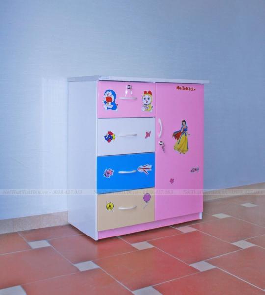 Tủ nhựa Đài Loan 1 cánh 4 ngăn T202 nhiều màu
