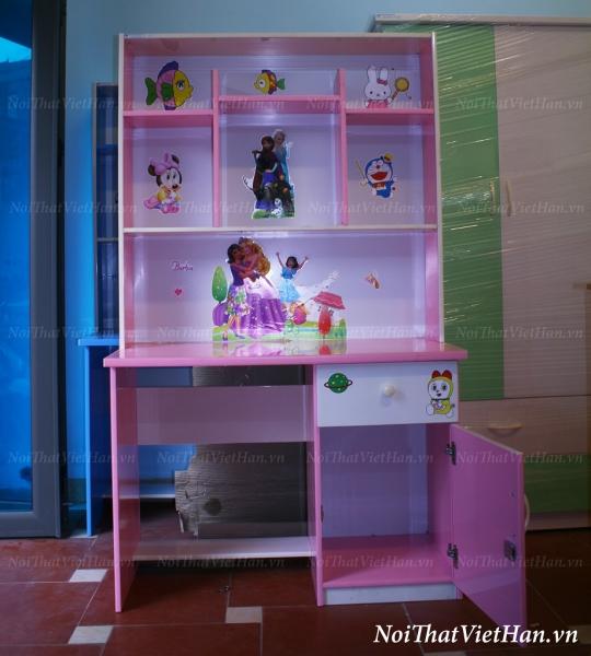 Bàn học nhựa Đài Loan bàn học BH1 màu hồng trắng