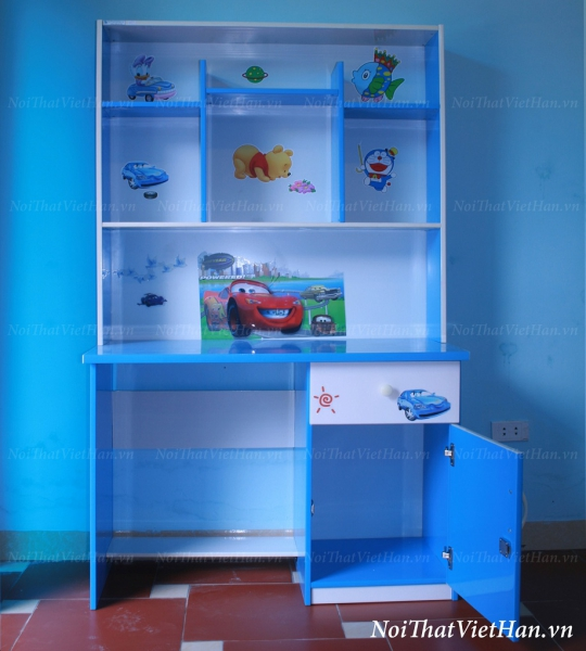 Bàn học nhựa Đài Loan bàn học BH2 màu xanh nước biển