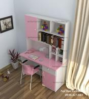 Bàn học nhựa Đài Loan bàn học BH10 màu hồng trắng