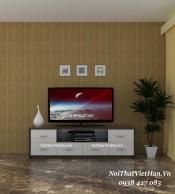 Kệ Tivi nhựa Đài Loan TV07 màu vân gỗ tối