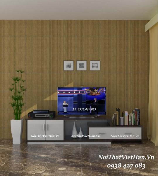 Kệ tivi nhựa Đài Loan TV10 màu vân gỗ tối