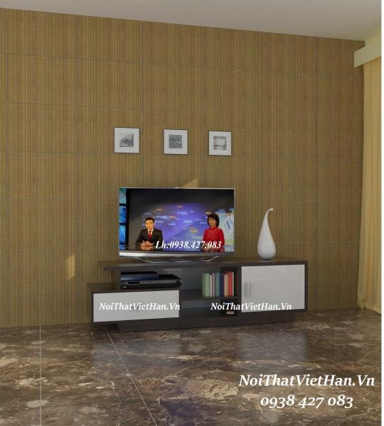 Kệ Tivi nhựa Đài Loan TV17 màu vân gỗ tối