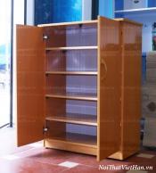 Tủ giầy nhựa Đài Loan TG01 - 2 cánh màu vân gỗ