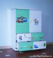 Tủ nhựa Đài Loan 2 cánh 4 ngăn T207 màu xanh cốm trắng