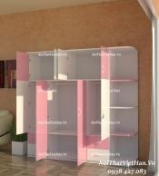 Tủ nhựa Đài Loan 8 cánh 4 ngăn C512 màu hồng trắng